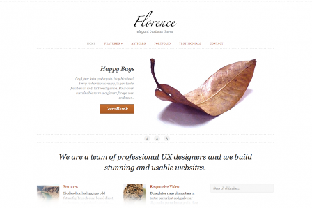 florence free wordpress theme